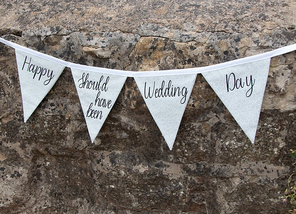 Happy 'should have been' Wedding Day banner
