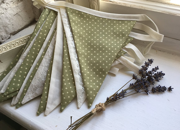 Green and Lace Bunting
