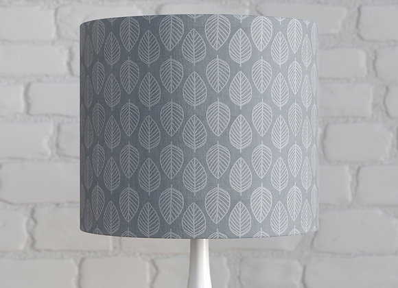 Grey Leaf Patterned Lampshade