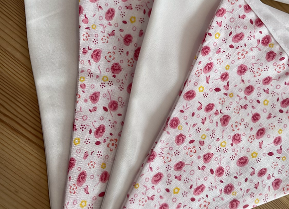 Pink and white flowers - 1metre