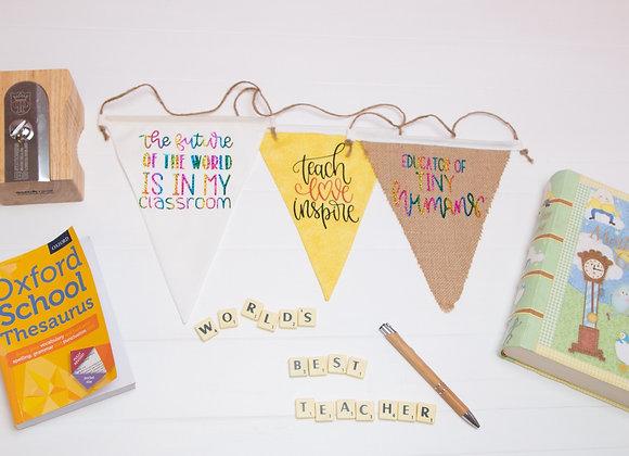Teacher gift flags