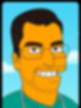 Dr. Miguel Davila los simpsons dibujo