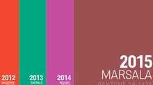 Y el color de 2015 es: Marsala