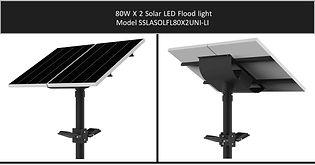 Solarstreet 2X80W LED Solar Flood light