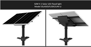 Solarstreet 2X50W Solar LED Flood - SSLA