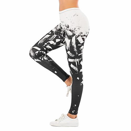 Brand Sexy Women Legging Leaf Printing Fitness Leggins Fashion Slim