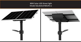 Solarstreet 80w Solar LED Street - SSLAS