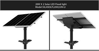 Solarstreet 2X20W LED Solar Flood light