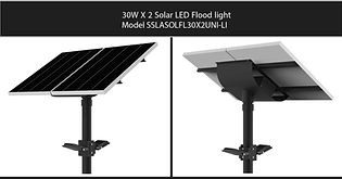 Solarstreet 2X30W LED Solar Flood light