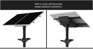 Solarstreet 2X10W Solar LED Flood - SSLA