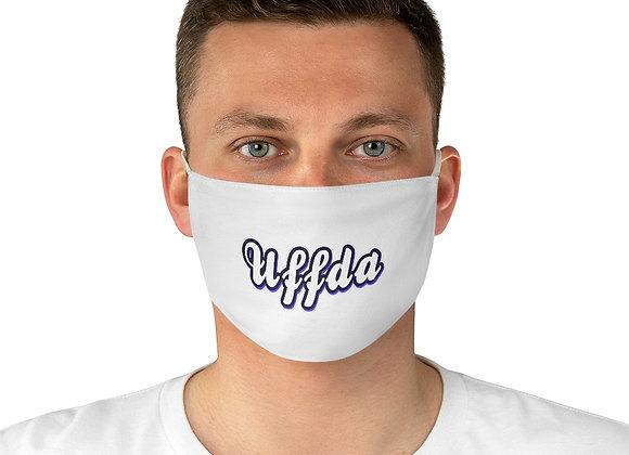 Uffda White Fabric Face Mask