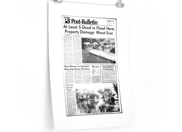 July 6, 1978 Post Bulletin Front Page Poster - Historic Flood