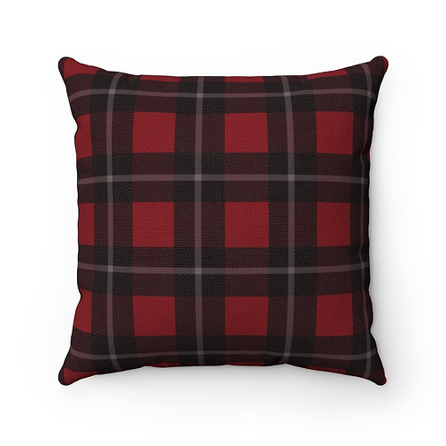 Midwestern Plaid Square Throw Pillow