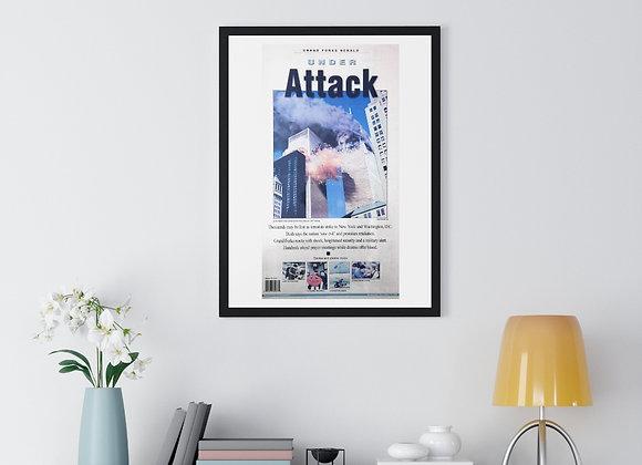 September 12, 2001 GF Herald Front Page Framed Poster - 9/11 Attacks