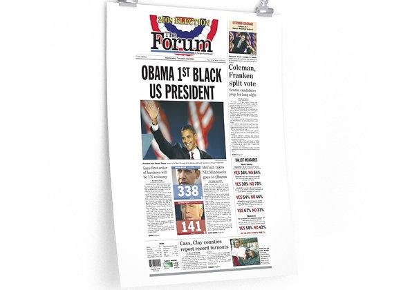 November 5, 2008 Forum Poster - Obama Elected