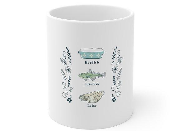 Hotdish, Lutefisk and Lefse Mug