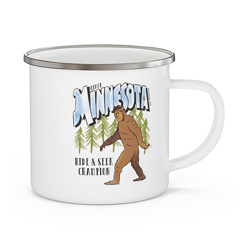 Remer Bigfoot Destinations Enamel Camping Mug