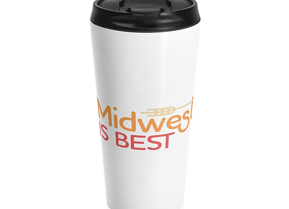 Midwest is Best Stainless Steel Travel Mug