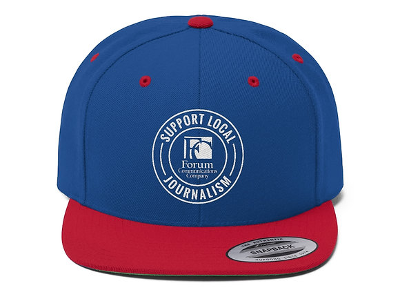 Support Local Journalism Flat Bill Baseball Cap