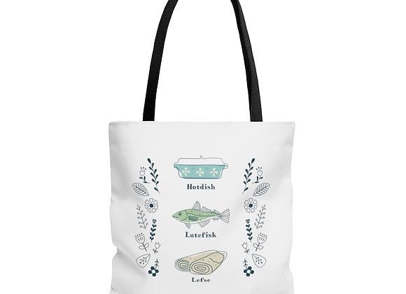 Hotdish, Lutefisk and Lefse Tote Bag