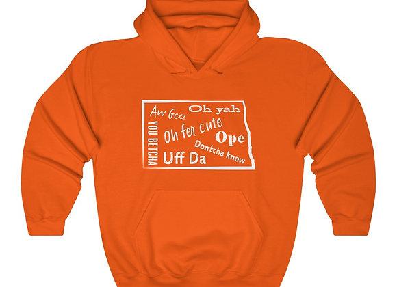 North Dakota Lingo Unisex Hooded Sweatshirt