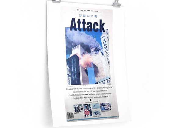 September 12, 2001 GF Herald Front Page Poster - 9/11 Attacks
