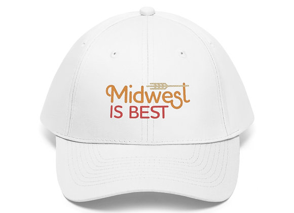 Midwest is Best Unisex Baseball Cap