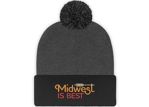 Midwest is Best Pom Pom Beanie