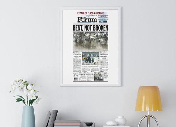 March 28, 2009 Forum Framed Poster - '09 Flood