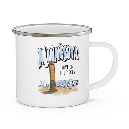 Itasca Destinations Enamel Camping Mug