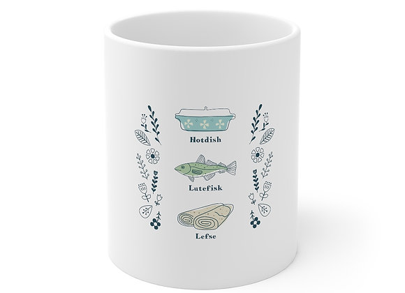 Hotdish, Lutefisk and Lefse Mug