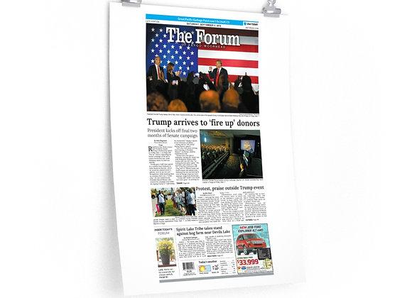 September 8, 2018 Forum Poster - Trump Visits Fargo