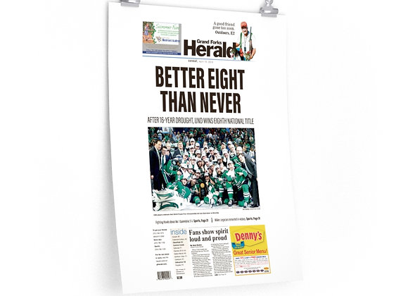 April 10, 2018 GF Herald Front Page Poster - UND Wins National Title