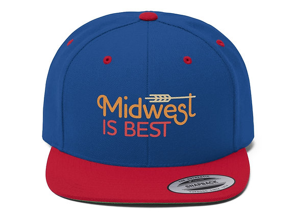 Midwest is Best Flat Bill Baseball Cap