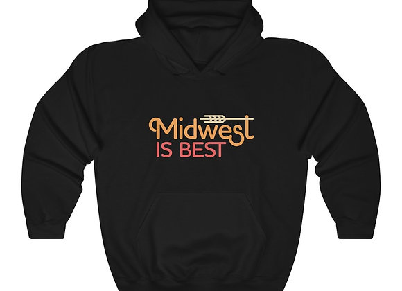 Midwest is Best Unisex Hooded Sweatshirt