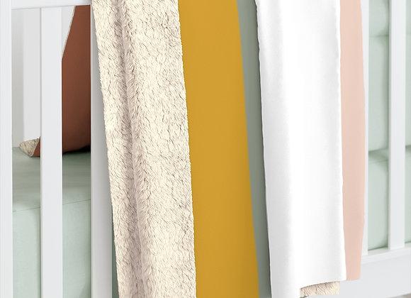 Prairie Hues Color Block Sherpa Fleece Blanket
