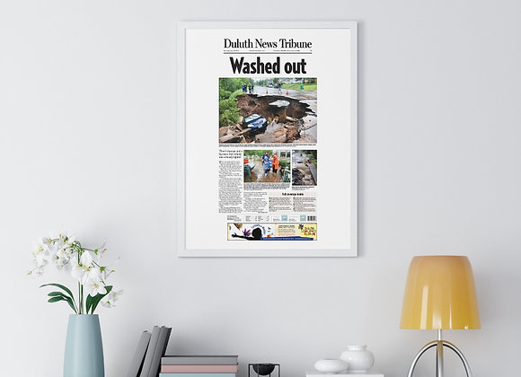 June 21, 2012 DNT Front Page Framed Poster - Historic Flooding