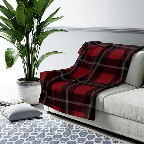 Midwest Plaid Sherpa Fleece Blanket