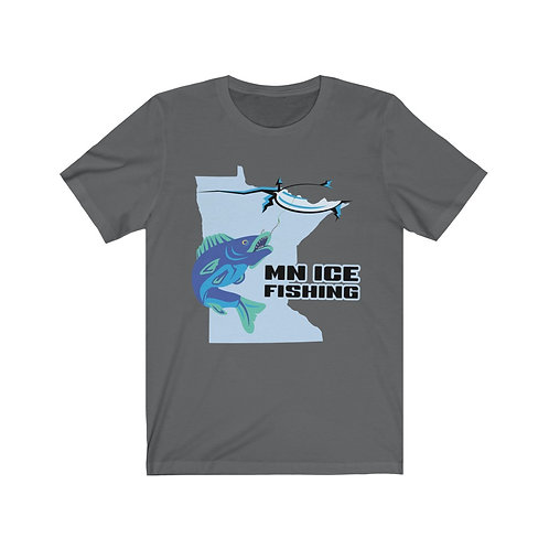 MN Ice Fishing Unisex Tee