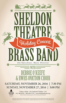 Sheldon Thatre Brass Band - Concert on Saturday, November 26, 2016 & Sunday, November 27, 2016