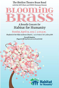 Sheldon Thatre Brass Band - Concert on Sunday April 19, 2015 (Benefit fr Habitat for Humanity)