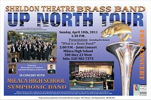 Sheldon Theatre Brass Band - Concert with Milaca High School Band (2011)