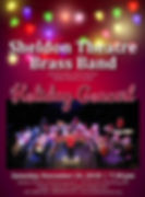 2018 STBB holiday concert poster (SHELDO