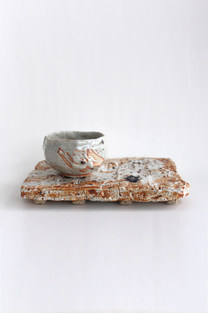 Painterly Shino Tea Set