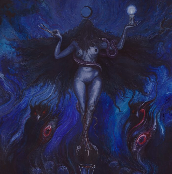 """""""Lilith"""" Image from Temple Below Album Cover."""