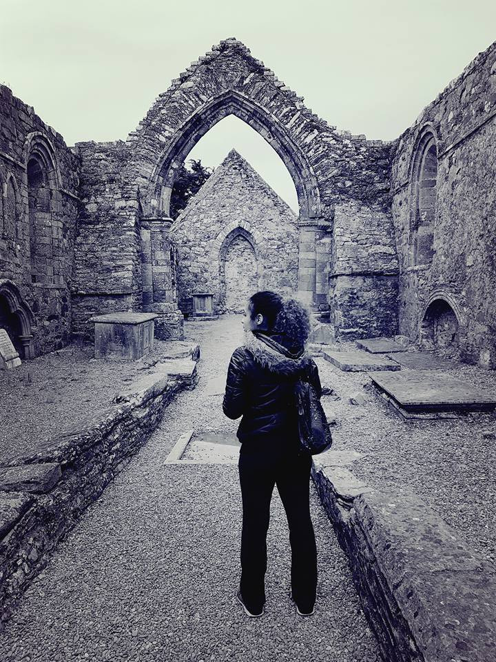The ruins of St. Declan's cathedral in Ardmore, Ireland
