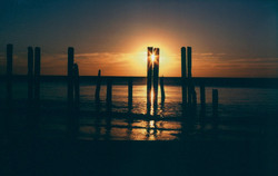 Pilings at Sunset