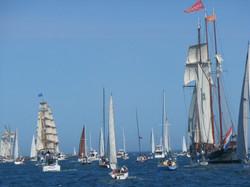 The Fleet leaving Port Adelaide