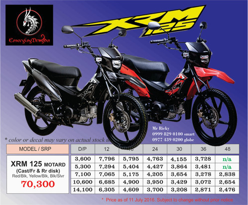 Honda Xrm 125 Parts Manual on