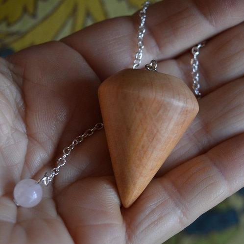 Wooden Pendulum English Alder handturned in Devon for Dowsing and Divination